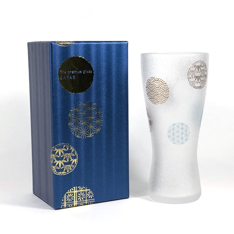日本 石塚哨子 霧面 丸紋 玻璃杯 啤酒杯 單入禮盒 1