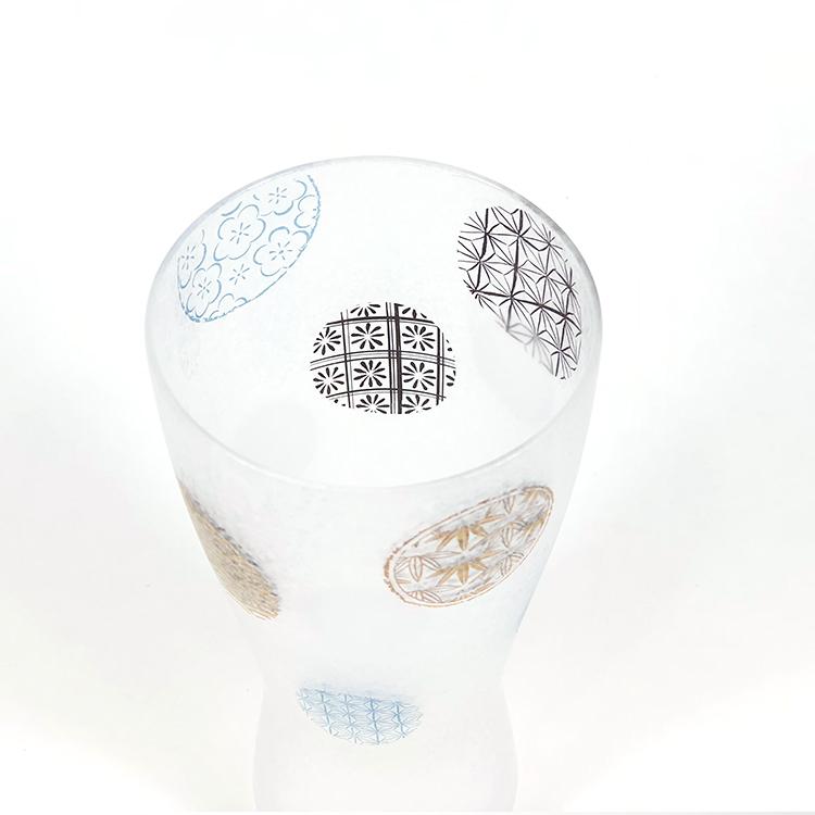 日本 石塚哨子 霧面 丸紋 玻璃杯 啤酒杯 單入禮盒 2