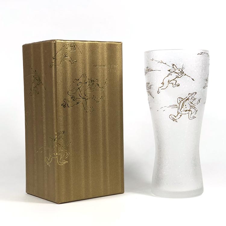 日本 石塚哨子 鳥獸戲畫 玻璃杯 啤酒杯 單入禮盒