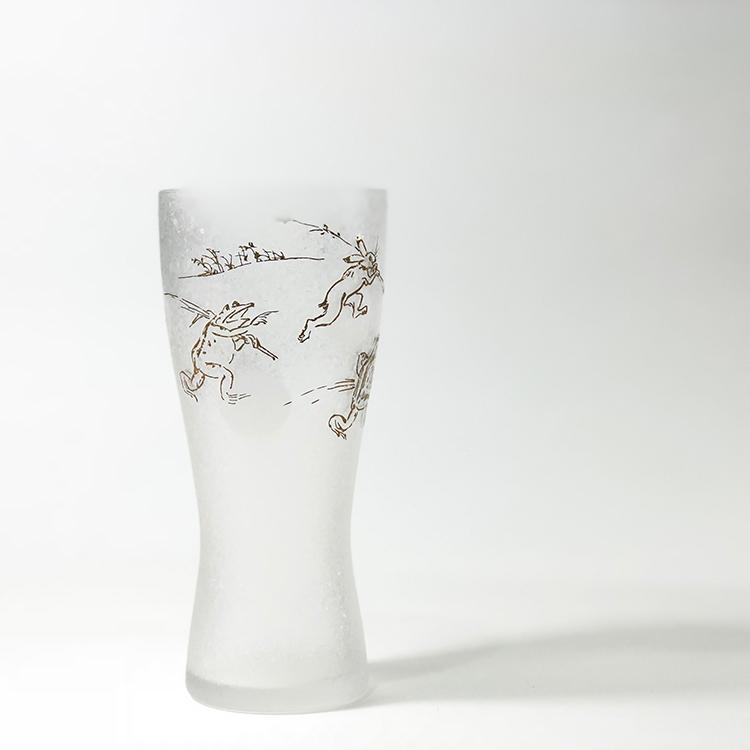 日本 石塚哨子 鳥獸戲畫 玻璃杯 啤酒杯 單入禮盒2