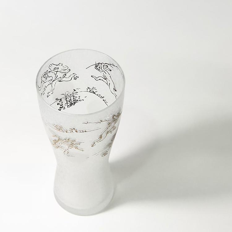 日本 石塚哨子 鳥獸戲畫 玻璃杯 啤酒杯 單入禮盒3