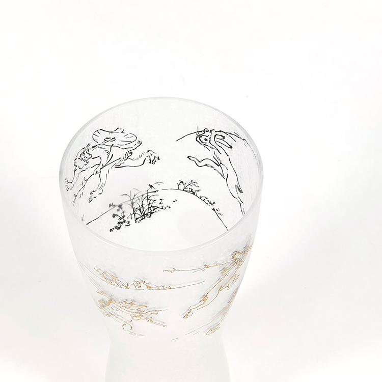 日本 石塚哨子 鳥獸戲畫 玻璃杯 啤酒杯 單入禮盒4