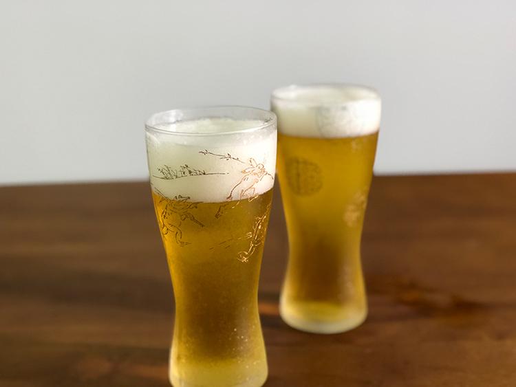 日本 石塚哨子 霧面 丸紋 玻璃杯 啤酒杯 單入禮盒 3