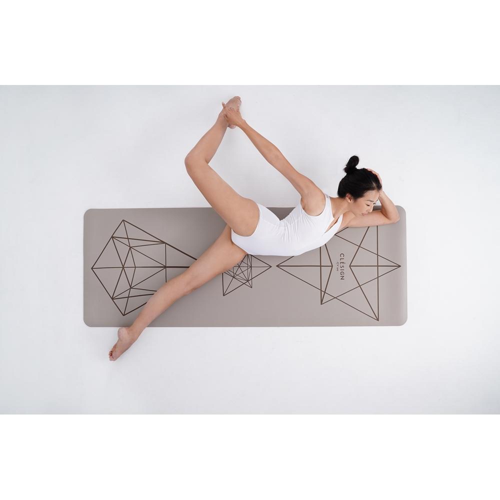 Clesign Pro Yoga Mat 瑜珈墊 4.5mm - Creamy Brown