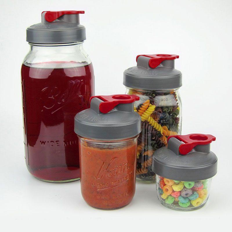 County Line Kitchen 梅森罐專用 太空蓋 寬口 (紅)