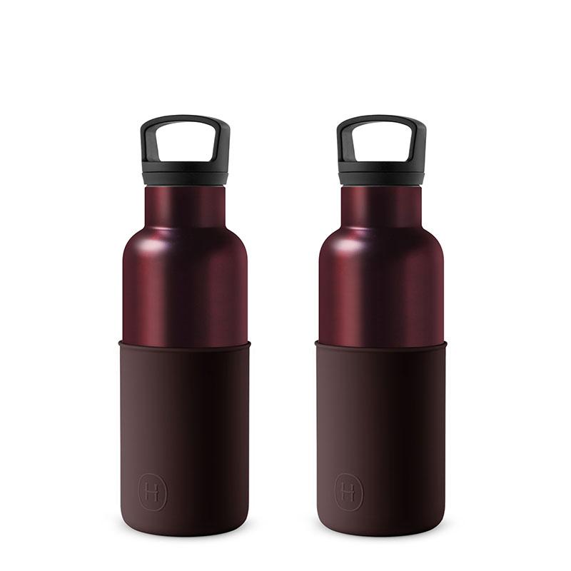 美國 HYDY 時尚不銹鋼保溫水瓶雙瓶組 勃根地紅瓶2入 (顏色任選)