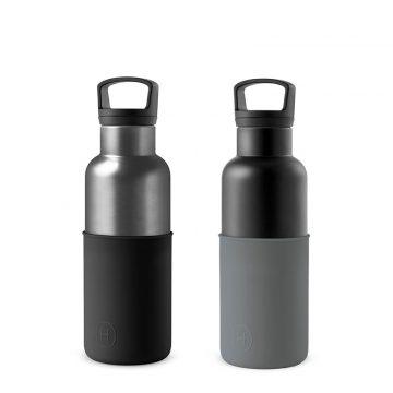 美國 HYDY 時尚不銹鋼保溫水瓶雙瓶組 輕巧黑瓶+鈦灰瓶 (顏色任選)