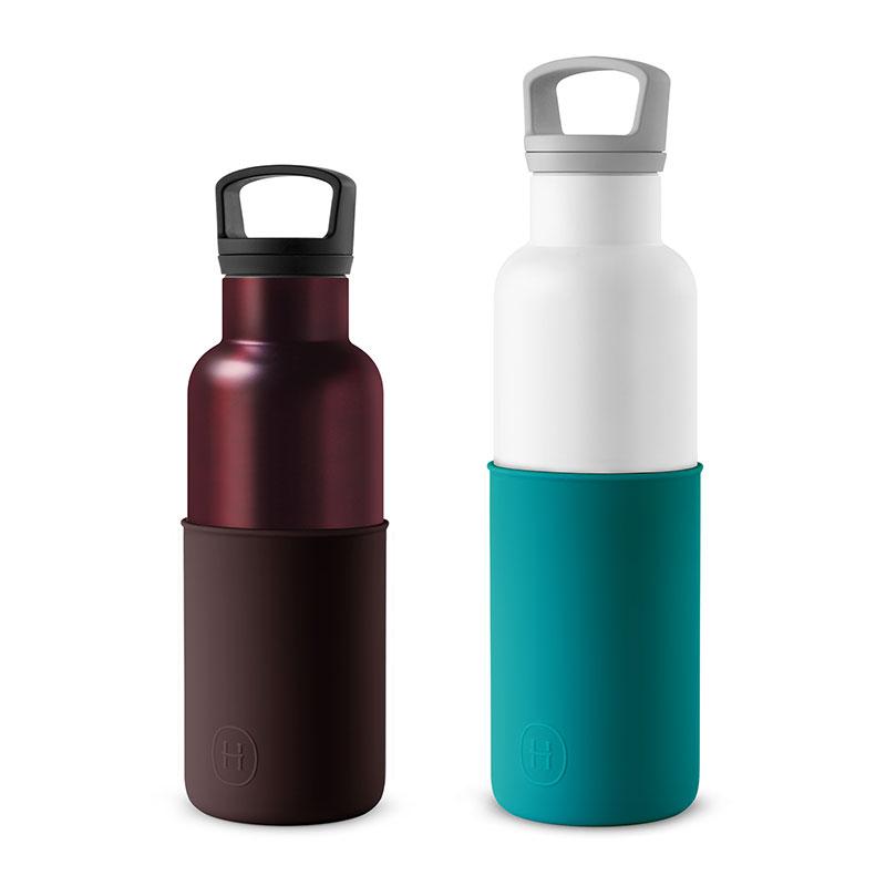 美國 HYDY 時尚不銹鋼保溫水瓶雙瓶組 白瓶+勃根地紅瓶 (顏色任選)