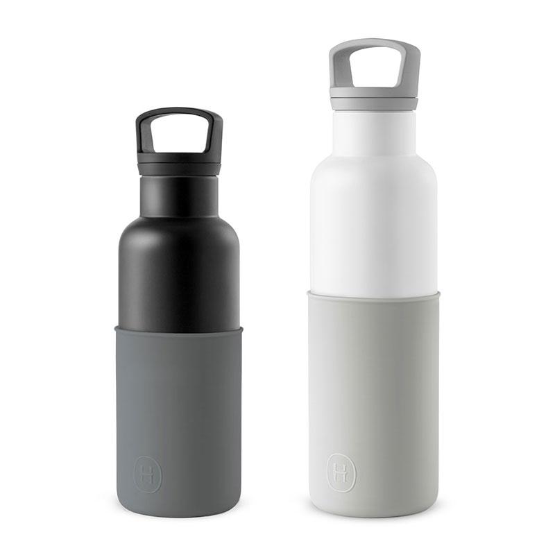 美國 HYDY 時尚不銹鋼保溫水瓶雙瓶組 白瓶+輕巧黑瓶 (顏色任選)