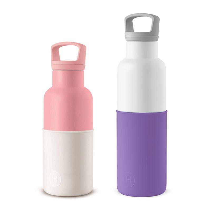 美國 HYDY 時尚不銹鋼保溫水瓶雙瓶組 白瓶+玫瑰粉瓶 (顏色任選)