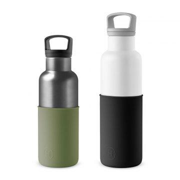 美國 HYDY 時尚不銹鋼保溫水瓶雙瓶組 白瓶+鈦灰瓶 (顏色任選)