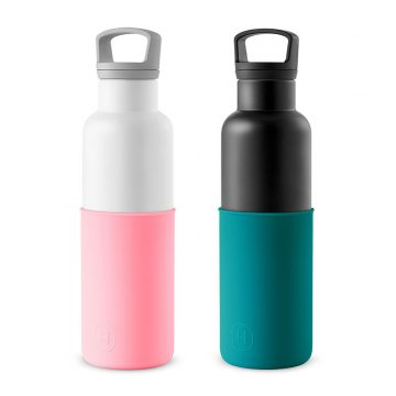 美國 HYDY 時尚不銹鋼保溫水瓶雙瓶組 白瓶+黑瓶 (顏色任選)