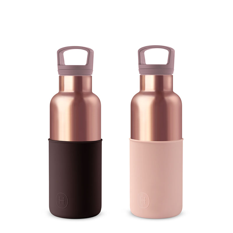 美國 HYDY 時尚不銹鋼保溫水瓶雙瓶組 蜜粉金瓶2入 (顏色任選)