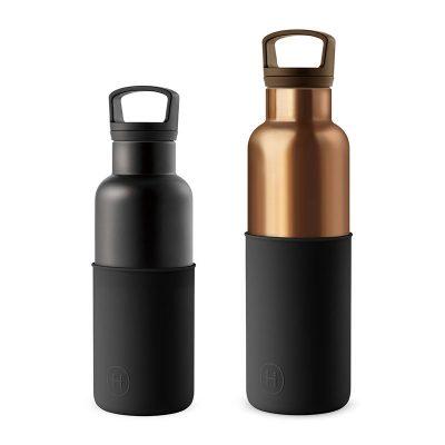 美國 HYDY 時尚不銹鋼保溫水瓶雙瓶組 古銅金瓶+輕巧黑瓶 (顏色任選)