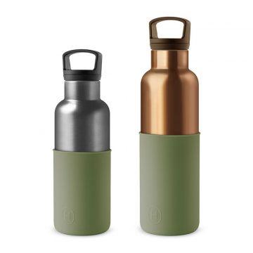 美國 HYDY 時尚不銹鋼保溫水瓶雙瓶組 古銅金瓶+鈦灰瓶 (顏色任選)