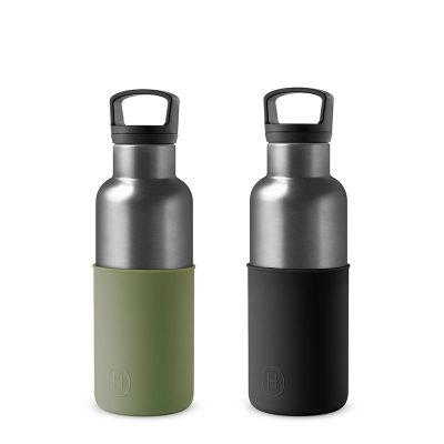 美國 HYDY 時尚不銹鋼保溫水瓶雙瓶組 鈦灰瓶2入 (顏色任選)