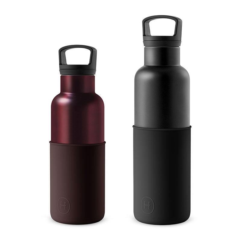 美國 HYDY 時尚不銹鋼保溫水瓶雙瓶組 黑瓶+勃根地紅瓶 (顏色任選)