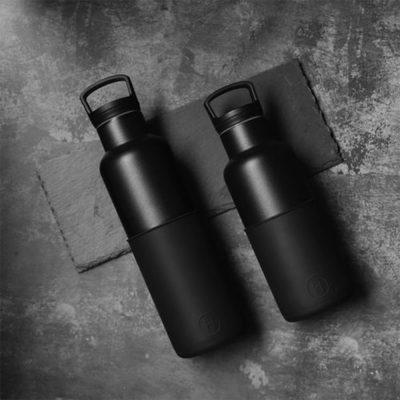 美國 HYDY 時尚不銹鋼保溫水瓶雙瓶組 黑瓶+輕巧黑瓶 (顏色任選)