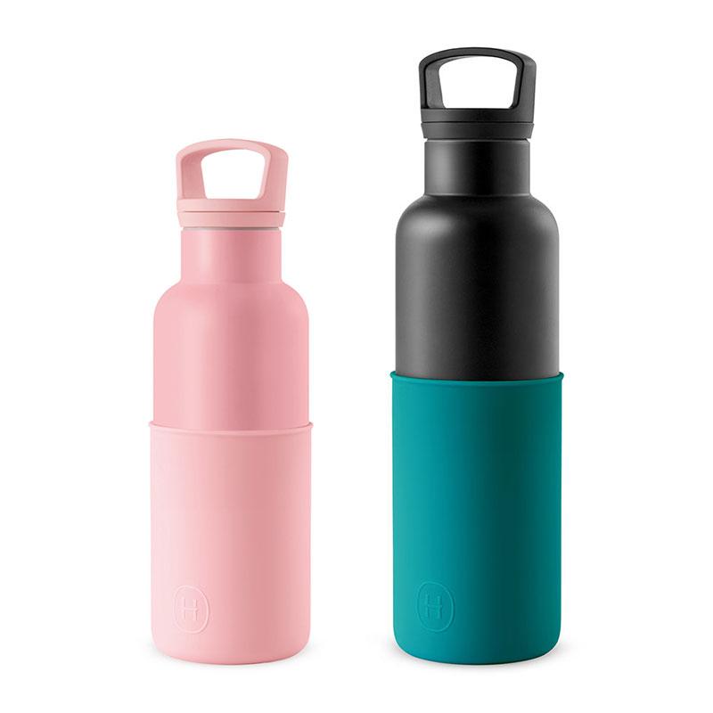 美國 HYDY 時尚不銹鋼保溫水瓶雙瓶組 黑瓶+玫瑰粉瓶 (顏色任選)