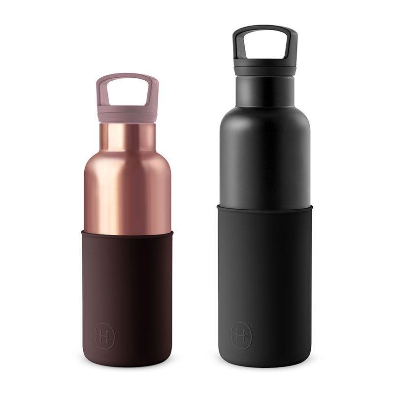 美國 HYDY 時尚不銹鋼保溫水瓶雙瓶組 黑瓶+蜜粉金瓶 (顏色任選)