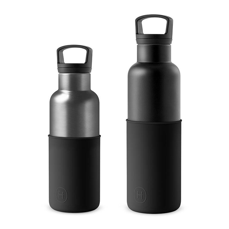 美國 HYDY 時尚不銹鋼保溫水瓶雙瓶組 黑瓶+鈦灰瓶 (顏色任選)