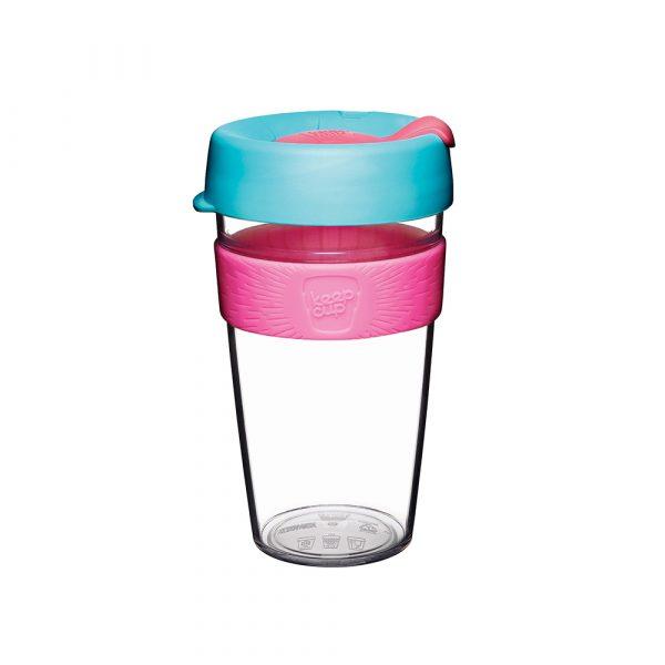 澳洲 KeepCup 隨身咖啡杯 晶透系列 L - 倒映櫻