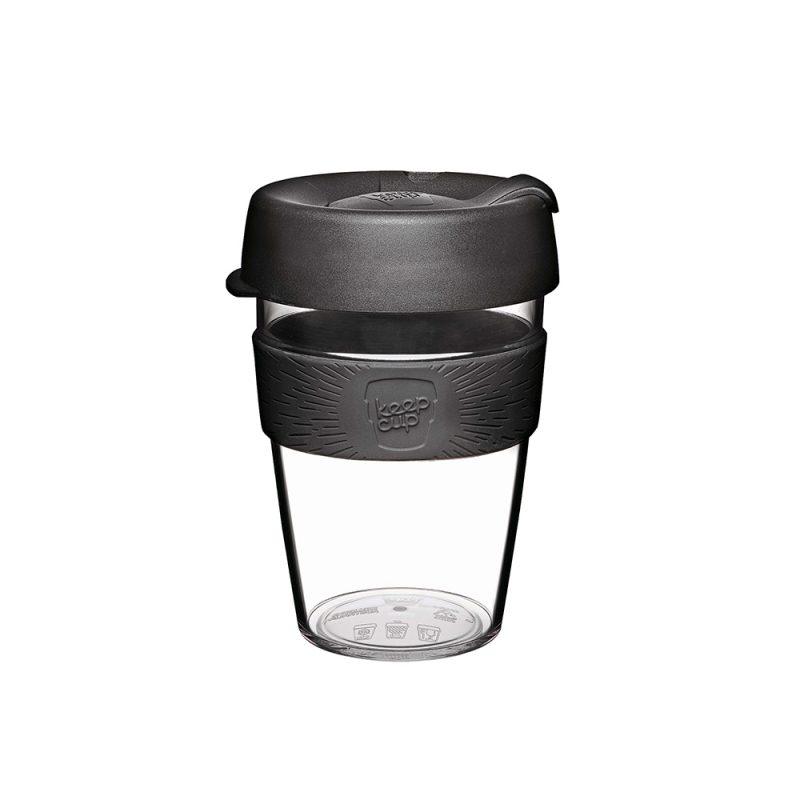 澳洲 KeepCup 隨身咖啡杯 晶透系列 M - 黑色幽默