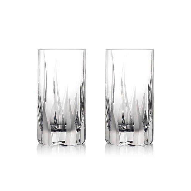 ROGASKA 水晶玻璃 FLAME 火焰之舞 高水杯 2支裝