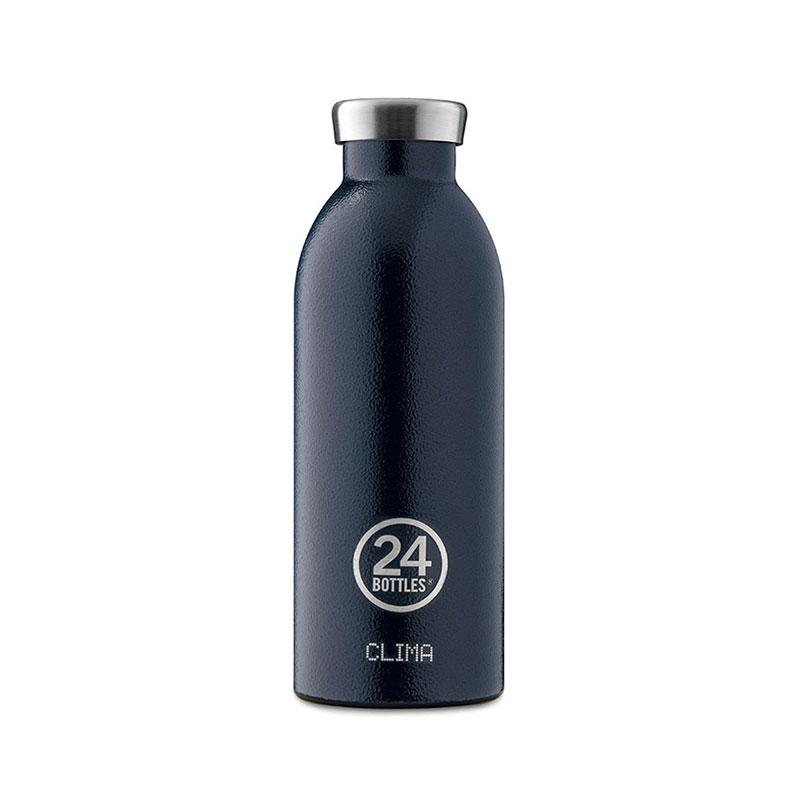 義大利 24Bottles 不鏽鋼雙層保溫瓶 500ml (午夜藍)