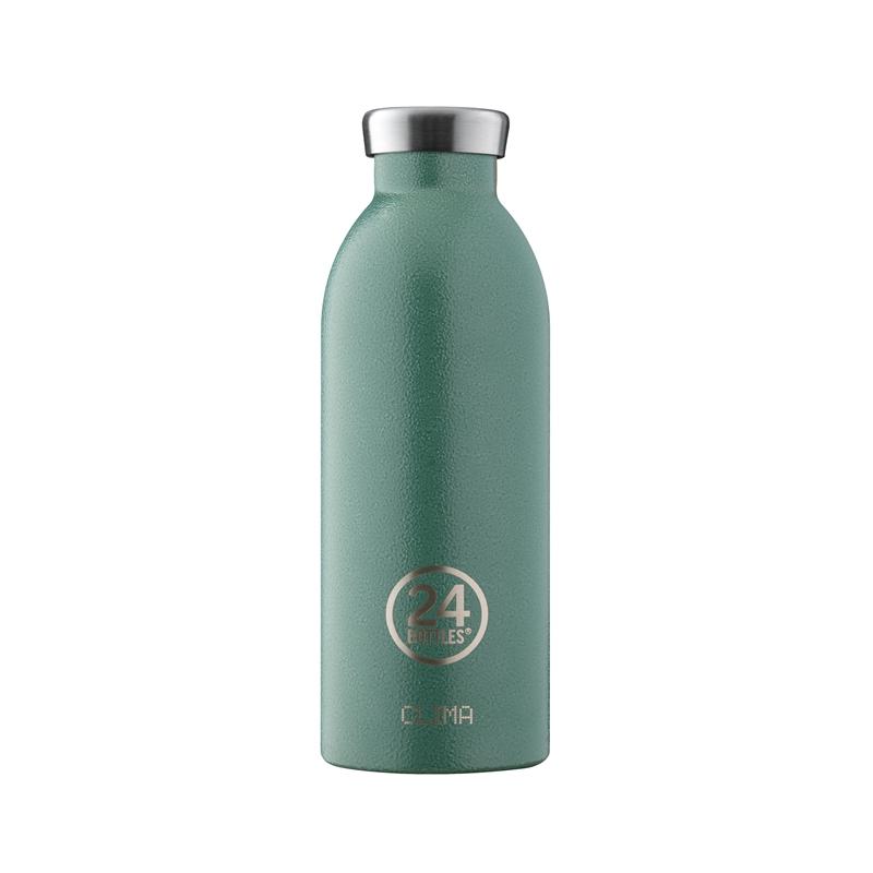 義大利 24Bottles 不鏽鋼雙層保溫瓶 500ml (祖母綠)