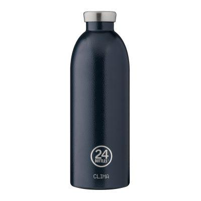 義大利 24Bottles 不鏽鋼雙層保溫瓶 850ml (午夜藍)