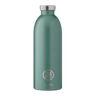 義大利 24Bottles 不鏽鋼雙層保溫瓶 850ml (祖母綠)