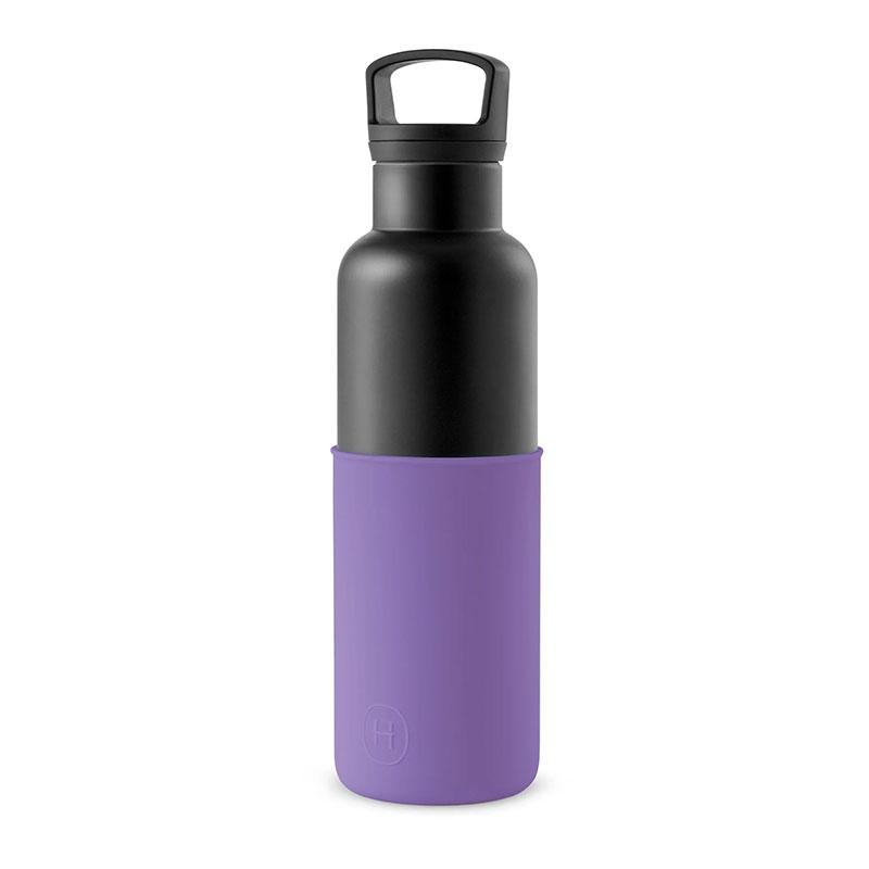 美國 HYDY 時尚不銹鋼保溫水瓶 黑瓶 (紫羅蘭)