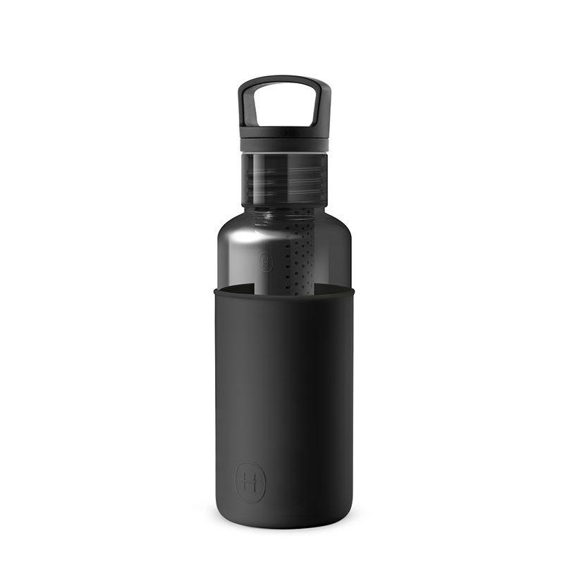 美國 HYDY 輕靚系列 透明冷水瓶 590ml 碳黑 (午夜黑)