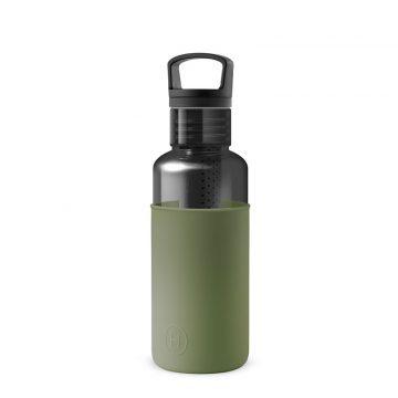 美國 HYDY 輕靚系列 透明冷水瓶 590ml 碳黑 (海藻綠)