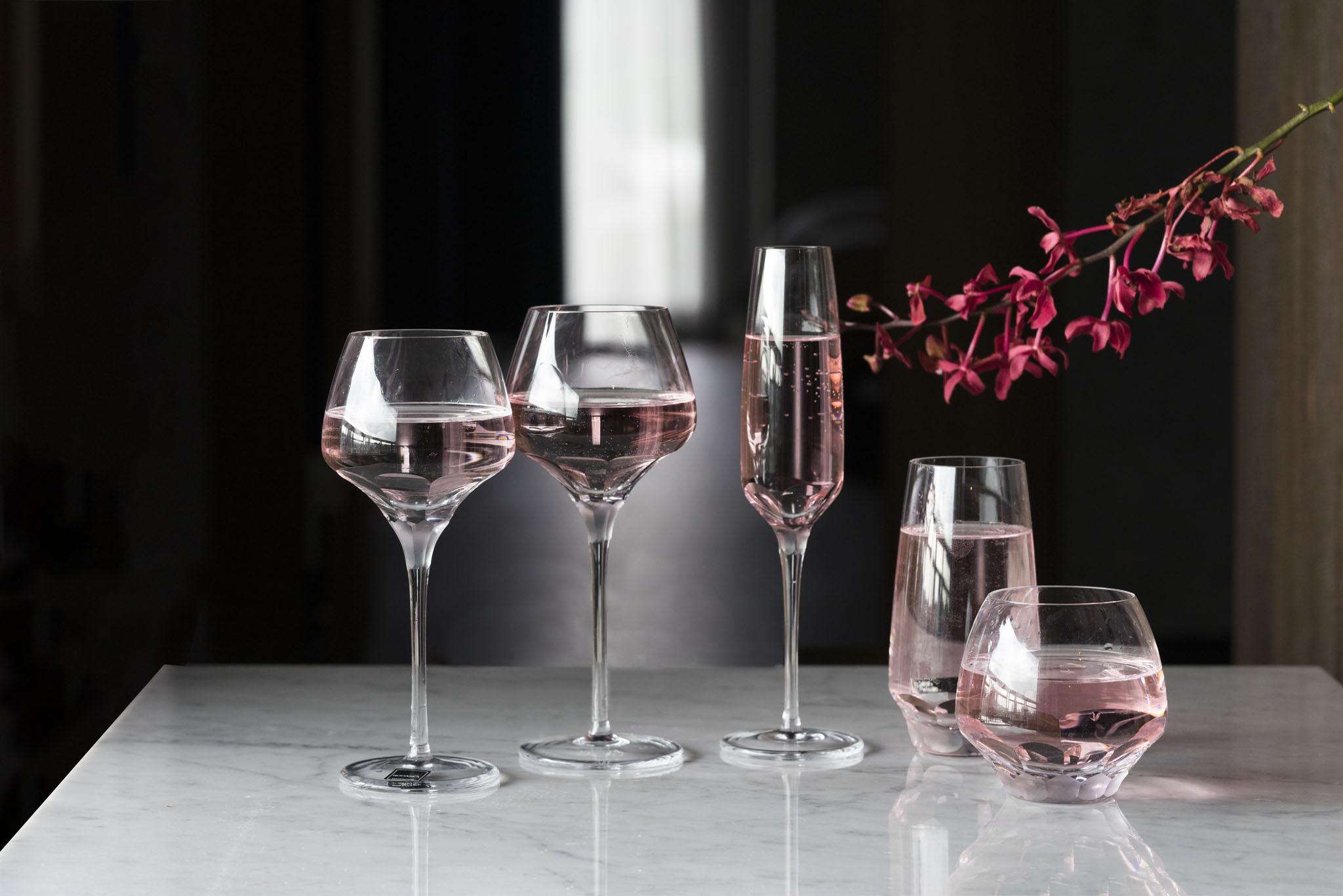 歐洲 ROGASKA 水晶玻璃 BLOSSOM 華麗綻放 高水杯 2支裝