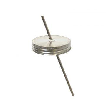304不鏽鋼 吸管杯蓋組 (寬口)