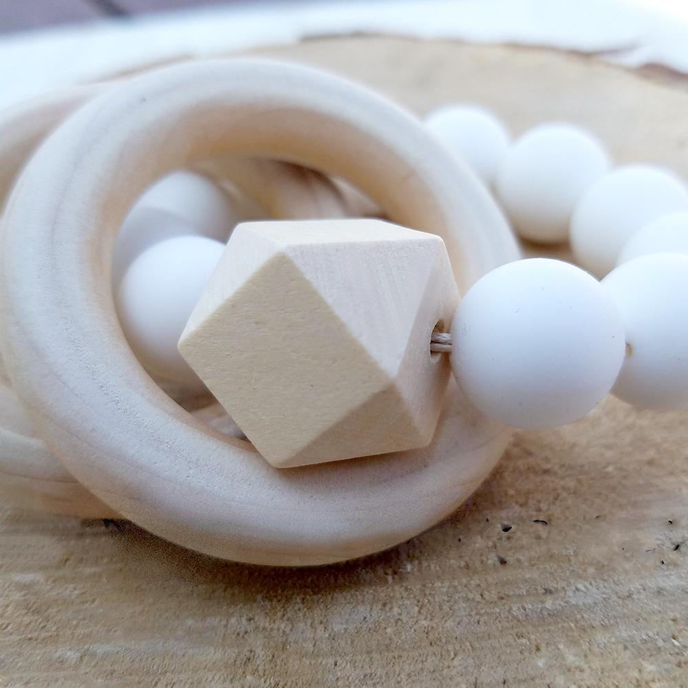 Mali Wear 天然無毒嬰幼兒原木固齒矽膠手環