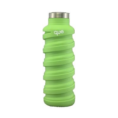 美國 que 環保伸縮水瓶 螢光綠 355ml