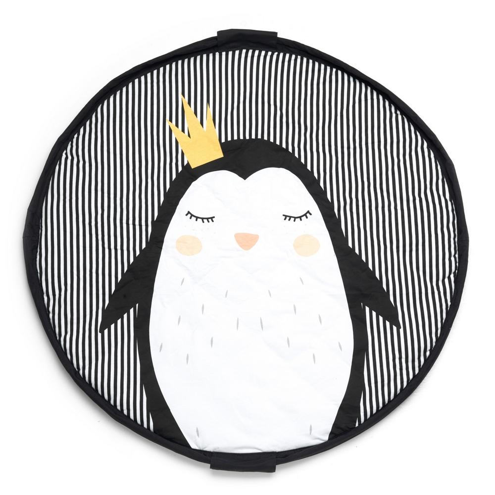 比利時 play & go 玩具整理袋 柔棉系列 (皇冠企鵝)