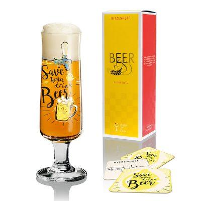 德國 RITZENHOFF BEER 新式啤酒杯-多喝酒