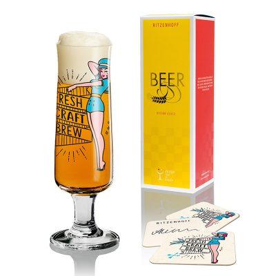 德國 RITZENHOFF BEER 新式啤酒杯-啤酒美眉