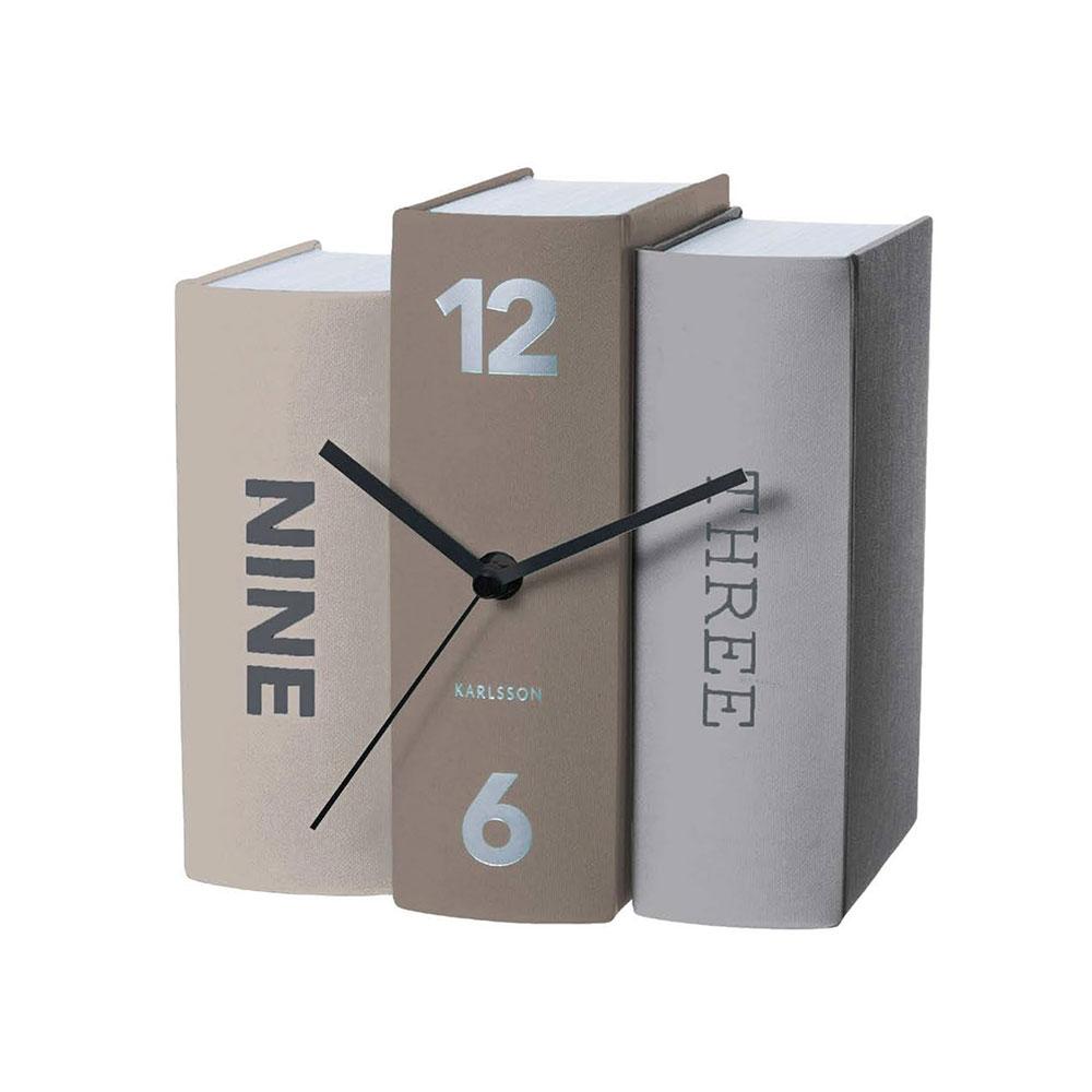荷蘭 Present time 書本時鐘 (灰)