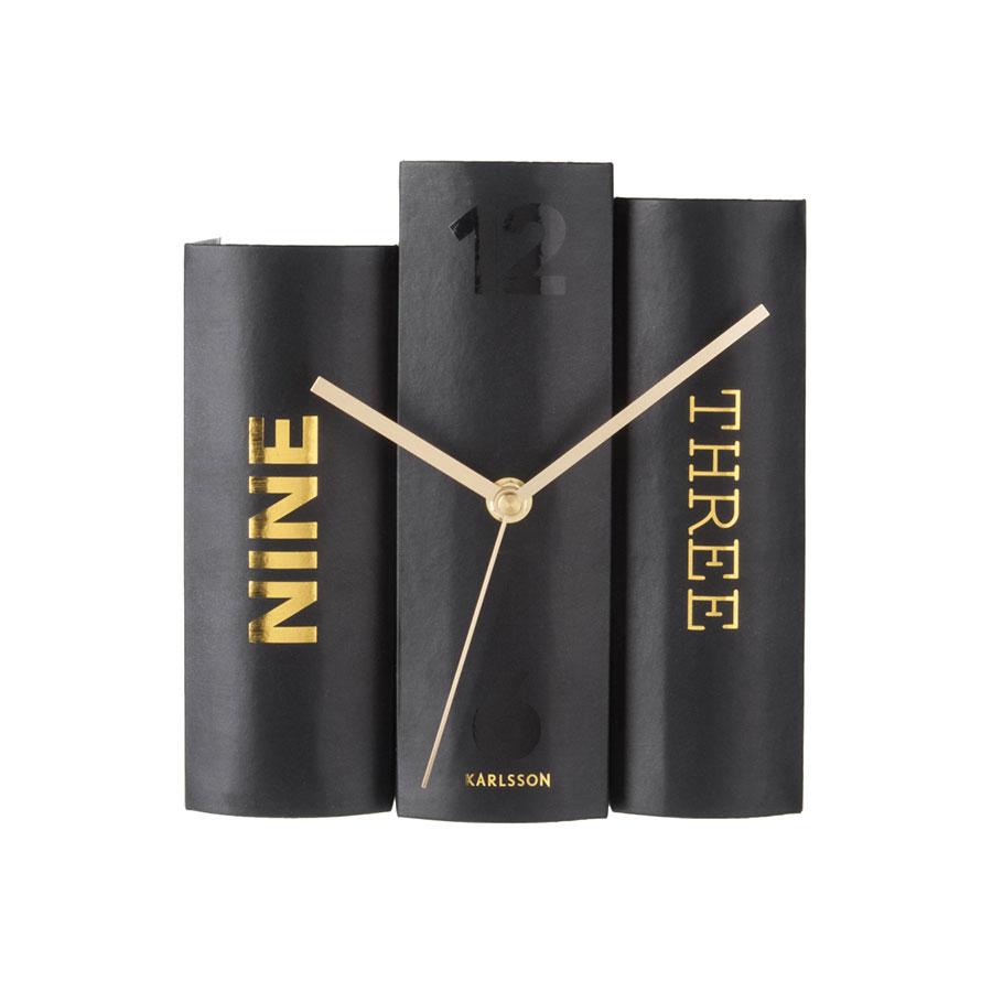 荷蘭 Present time 書本時鐘 (黑)