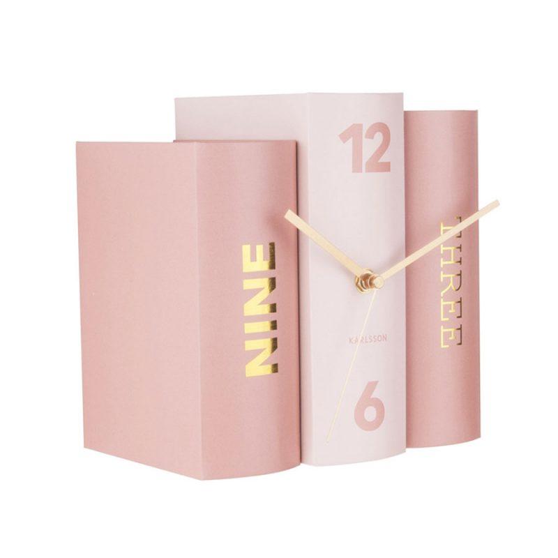 荷蘭 Present time 書本時鐘 (玫瑰粉)