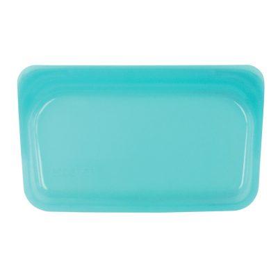 美國 Stasher 矽膠密封袋 長形 湖水藍