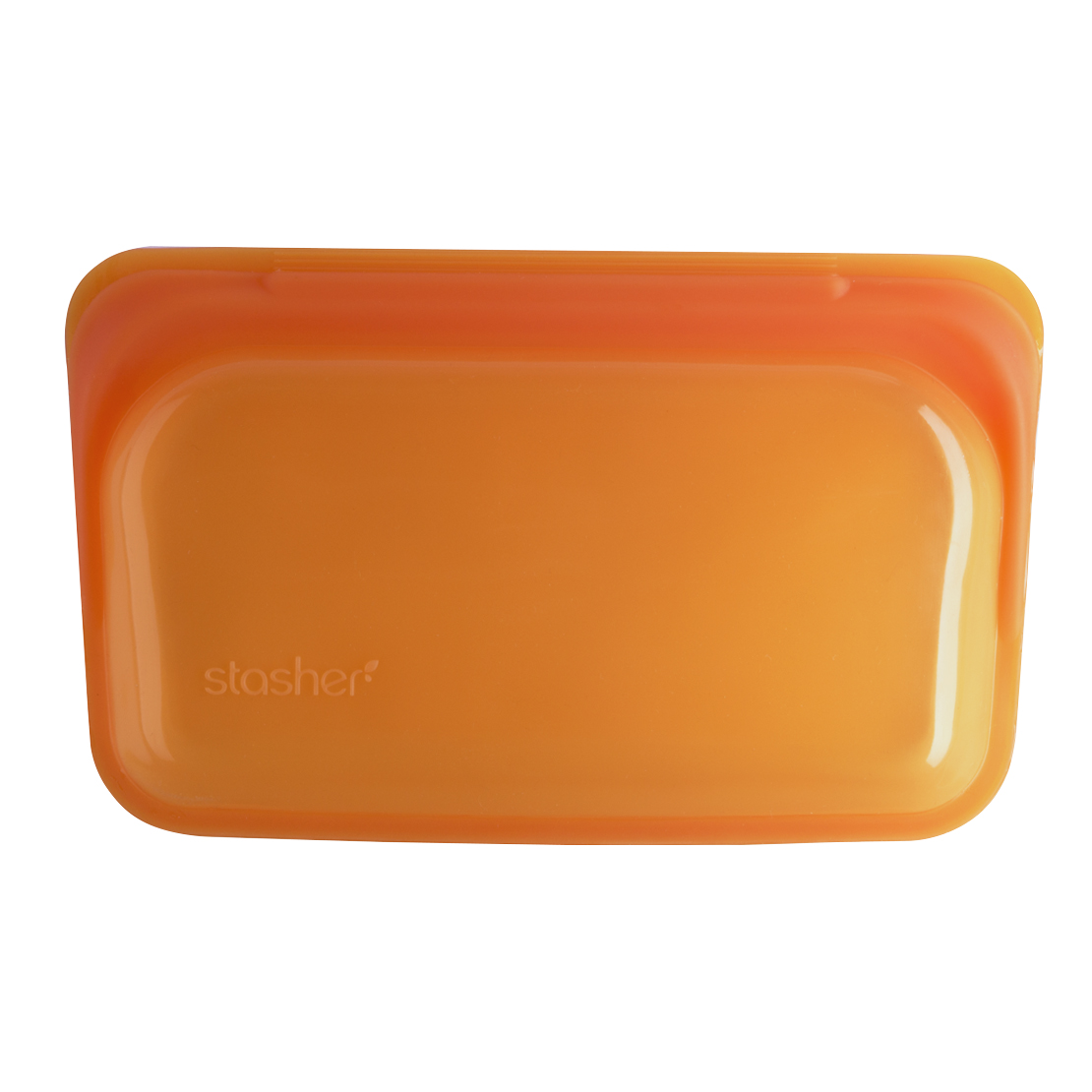 美國 Stasher 矽膠密封袋 長形 柑橙橘