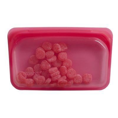 美國 Stasher 矽膠密封袋 長形 野莓紅