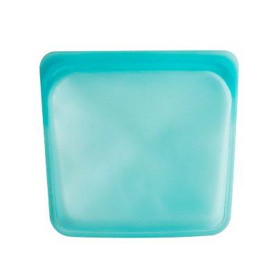 美國 Stasher 矽膠密封袋 方形 湖水藍