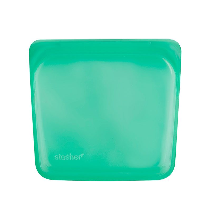 美國 Stasher 矽膠密封袋 方形 碧綠